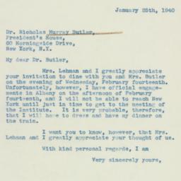 Letter: 1940 January 25