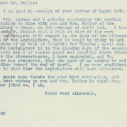 Letter : 1940 March 18