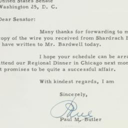 Letter: 1955 October 27