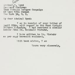 Letter : 1952 May 2