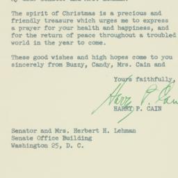 Letter : 1951 December 15
