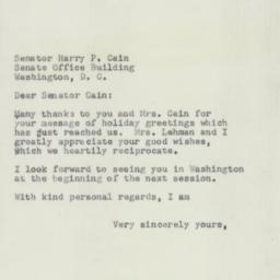 Letter : 1951 December 31