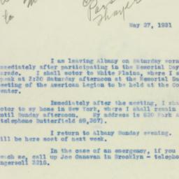 Administrative Record: 1931...