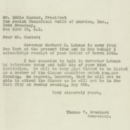Letter: 1947 March 15