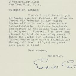 Letter : 1948 January 26