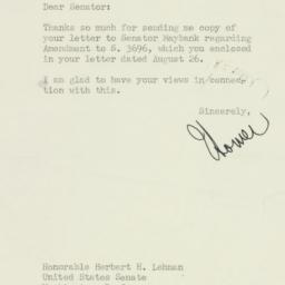 Letter: 1950 August 30