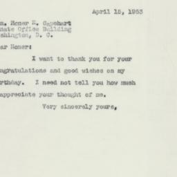 Letter : 1953 April 15