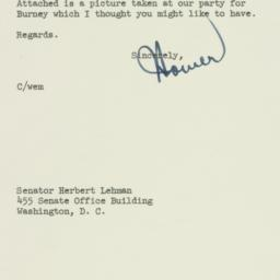 Letter: 1953 April 27