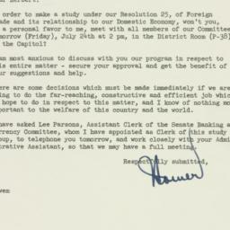 Letter: 1953 July 23