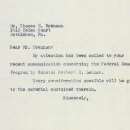 Letter: 1954 May 12