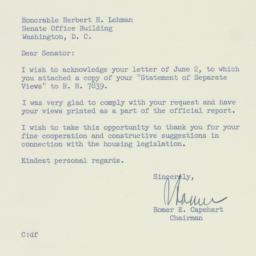 Letter: 1954 June 4