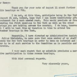Letter: 1954 August 13