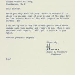 Letter: 1954 November 16