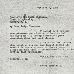 Letter : 1928 October 5