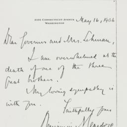 Letter : 1936 May 16