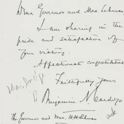 Letter : 1936 November 4