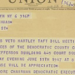 Letter : 1947 June 6