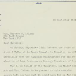 Letter : 1949 September 13