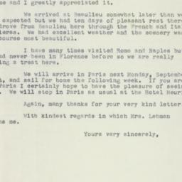 Letter : 1953 September 16