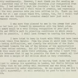 Letter : 1947 March 19