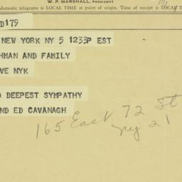 Telegram: 1963 December 5
