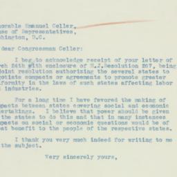 Letter : 1934 April 2