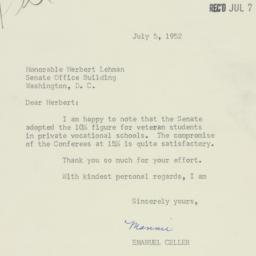 Letter: 1952 July 5