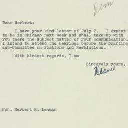 Letter : 1952 July 10