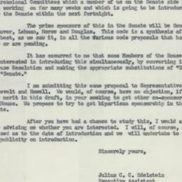 Letter : 1954 May 1