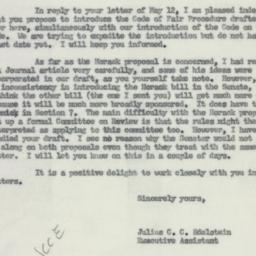 Letter : 1954 May 13
