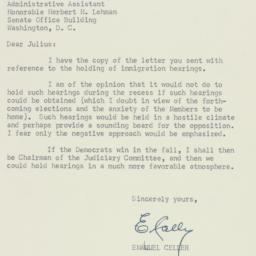 Letter : 1954 June 29