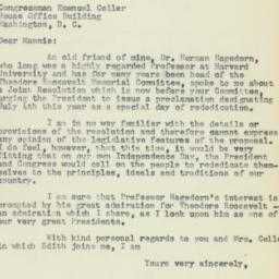 Letter : 1958 May 23