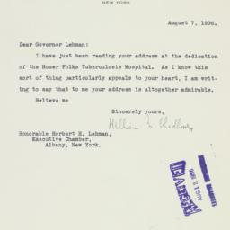 Letter : 1936 August 7
