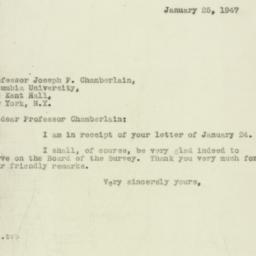 Letter : 1947 January 25