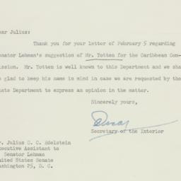 Letter: 1951 February 23