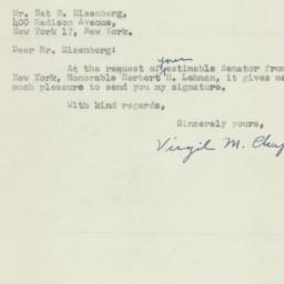 Letter: 1950 November 15