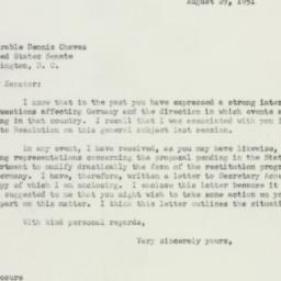 Letter : 1951 August 29