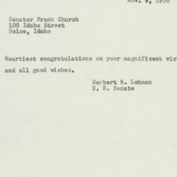 Telegram : 1956 November 7