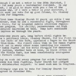 Letter : 1962 October 30