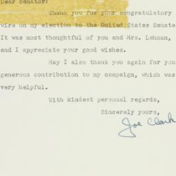 Letter : 1956 November 16