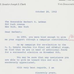 Letter : 1962 October 24