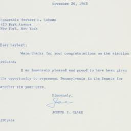 Letter : 1962 November 20