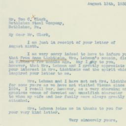 Letter : 1938 August 13