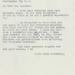 Letter : 1952 December 6