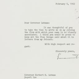 Letter : 1963 February 6