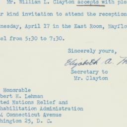 Letter : 1946 April 15