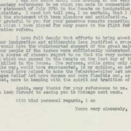 Letter: 1956 August 1