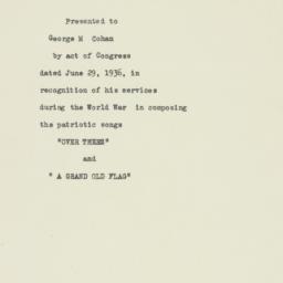 Press release : 1936 June 29