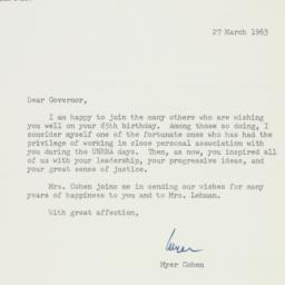 Letter : 1963 March 27
