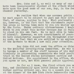 Letter : 1953 July 21